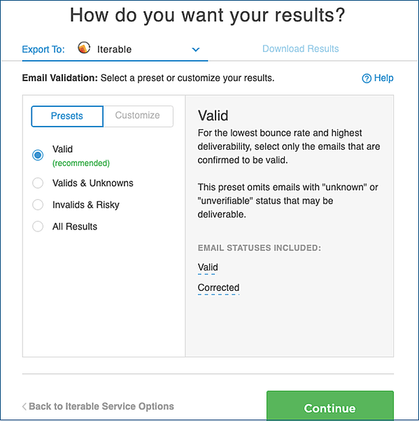 Email-Validation-Options