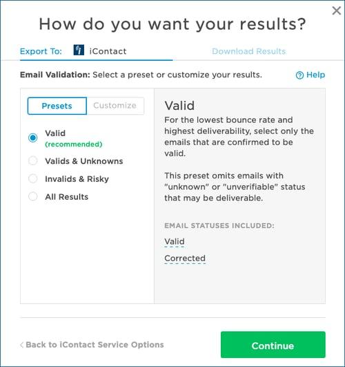 iContact-EValExport